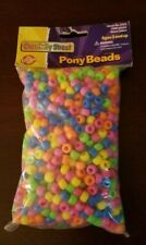1000 Tiger Eye Brown Matte 7mm Mini Barrel Plastic Pony Beads Made in the USA