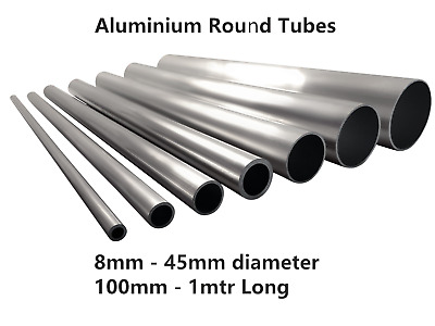 Aluminium Square Tube Box Rectangular 2 m Long 12 mm x 8 mm x 1 mm x 2000 mm