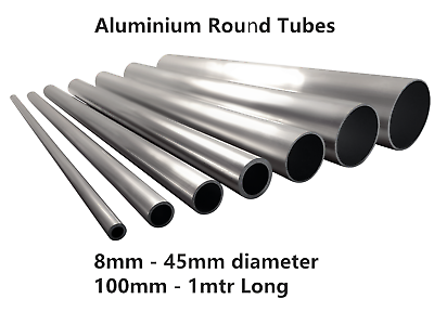 10000 Aluminium Round Tube Aluminium Tubing 8 mm x 1 mm x 2000 mm