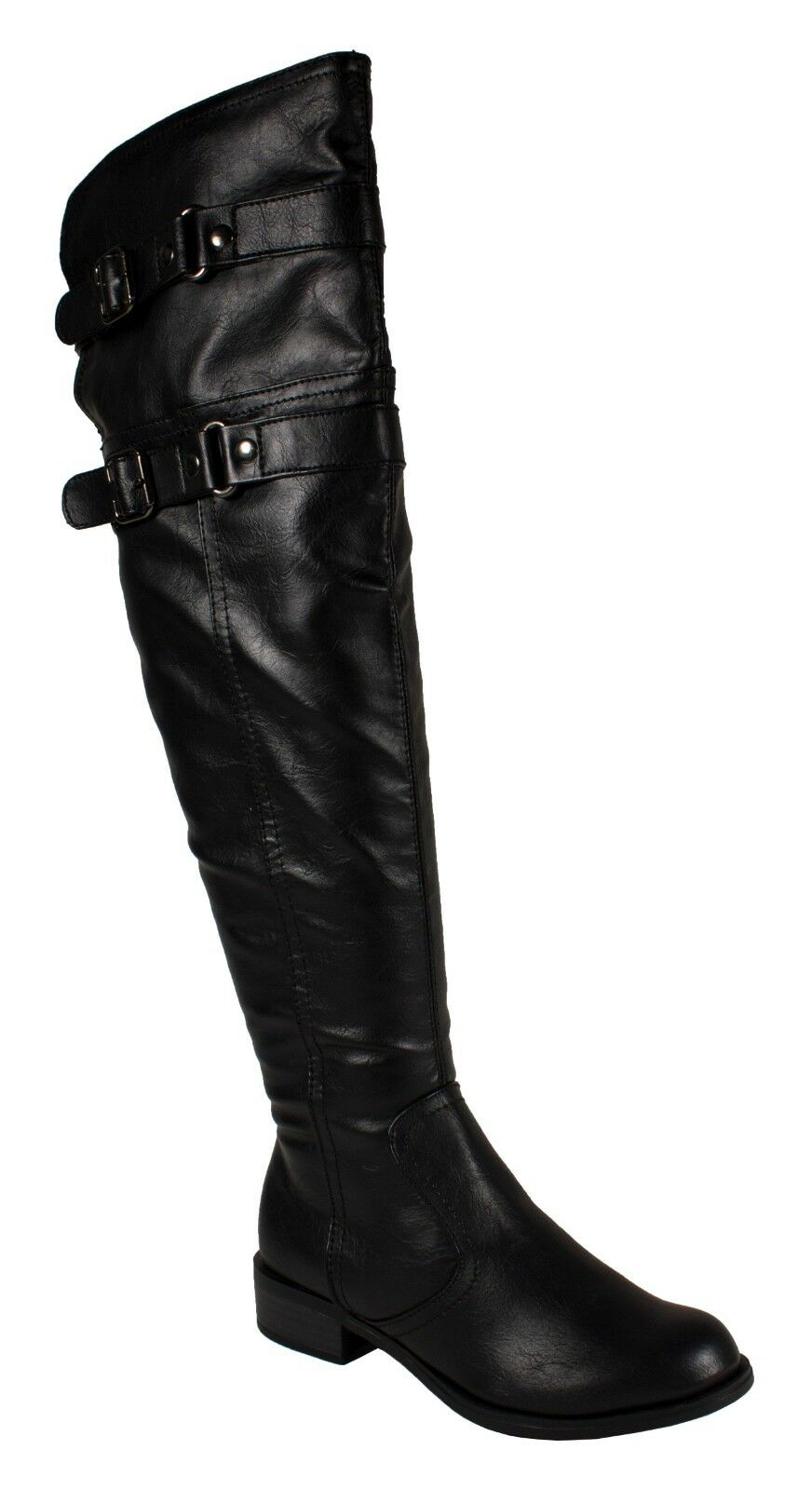 RIDE! Soda Women's Double Buckle Straps Over-the-knee Riding Boots