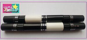 Creative-Nails-Nail-Art-Pen-Stift-Nagellack-4-Farben-weiss-schwarz-NEU