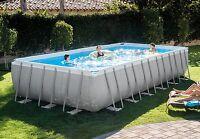 16x32x52 Intex 28375eh Ultra Frame Swimming Pool Kit W/accessories & Volleyball on sale