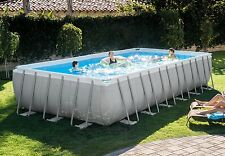 "16x32x52"" Intex 28375EH Ultra Frame Swimming Pool Kit w/Accessories & Volleyball"