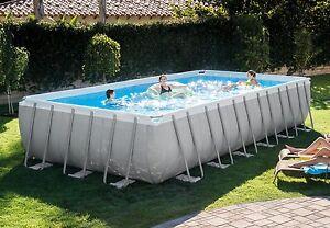 Intex 16x32x52 Ultra Frame Swimming Pool Kit W Accessories Volleyball 26375eh Ebay
