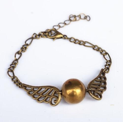 ,Steampunk Flying in Bronze Golden Tone Ball Snitch,Fashion Bracelet