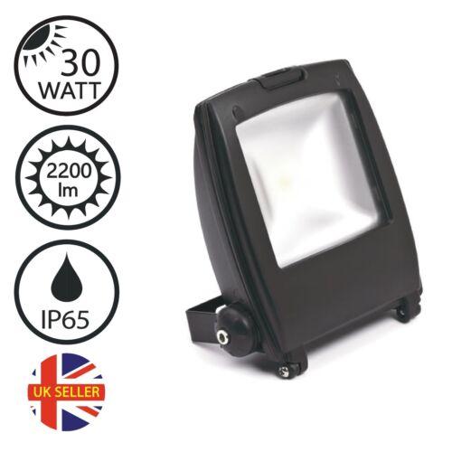 30W LED FLOODLIGHT SECURITY OUTDOOR LIGHT IP65 COB CHIP GALVANISED BLACK FINISH