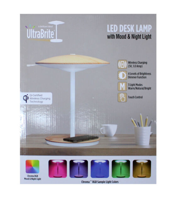UltraBrite LED Desk Lamp with Mood & Night Light | eBay