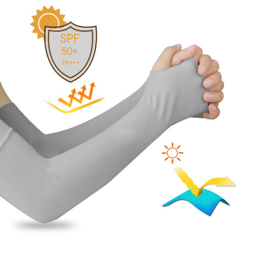 5 Pairs Of Cooling Arm Sleeves Compression Cover UV Sun Protection For Men Wowen