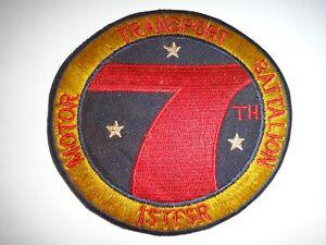 Usmc-7th-Motore-Veicoli-Battaglione-1st-FSR-Vietnam-Guerra-Toppa