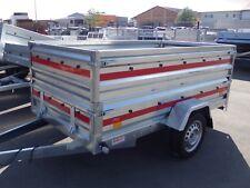 """Pkw Anhänger """"TEMARED"""" 750 kg - 2,35x1,25 mit Bordwandaufsatz - Frontklappe NEU"""