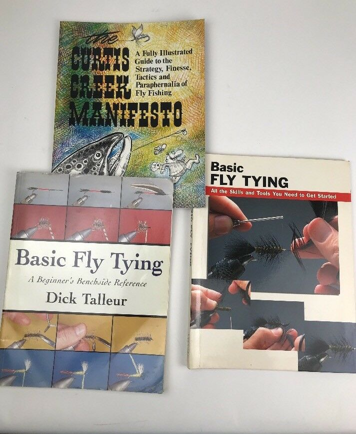 Beginner Fly Fishing - Learn to Tie, Strategy, Finesse, Tactics  Lot of 3 Books