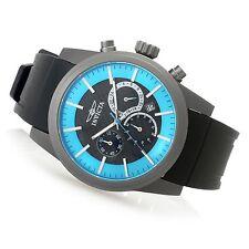 New Mens Invicta 20485 TI-22 Chronograph Blue Dial Polyurethane Strap Watch