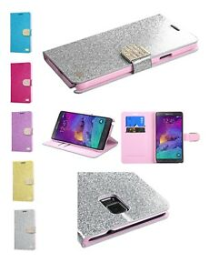 Samsung-Galaxy-Note-4-Hybrid-Bling-Glitter-Rugged-Shockproof-Wallet-Case-Cover