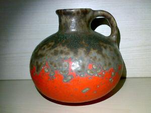 Vase-FAT-LAVA-ERA-unknown-WGP-Great-Glaze-Orange-Brown-H-18-5-cm-60s-70s