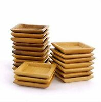 Bamboo Mn Small Solid Bamboo Dishes - 2.4 X 2.4 - Deep Square Wholesale