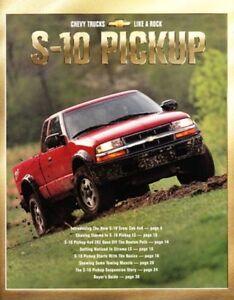 2001 01 Chevy S10 Pickup Original Sales Brochure Mint Ebay