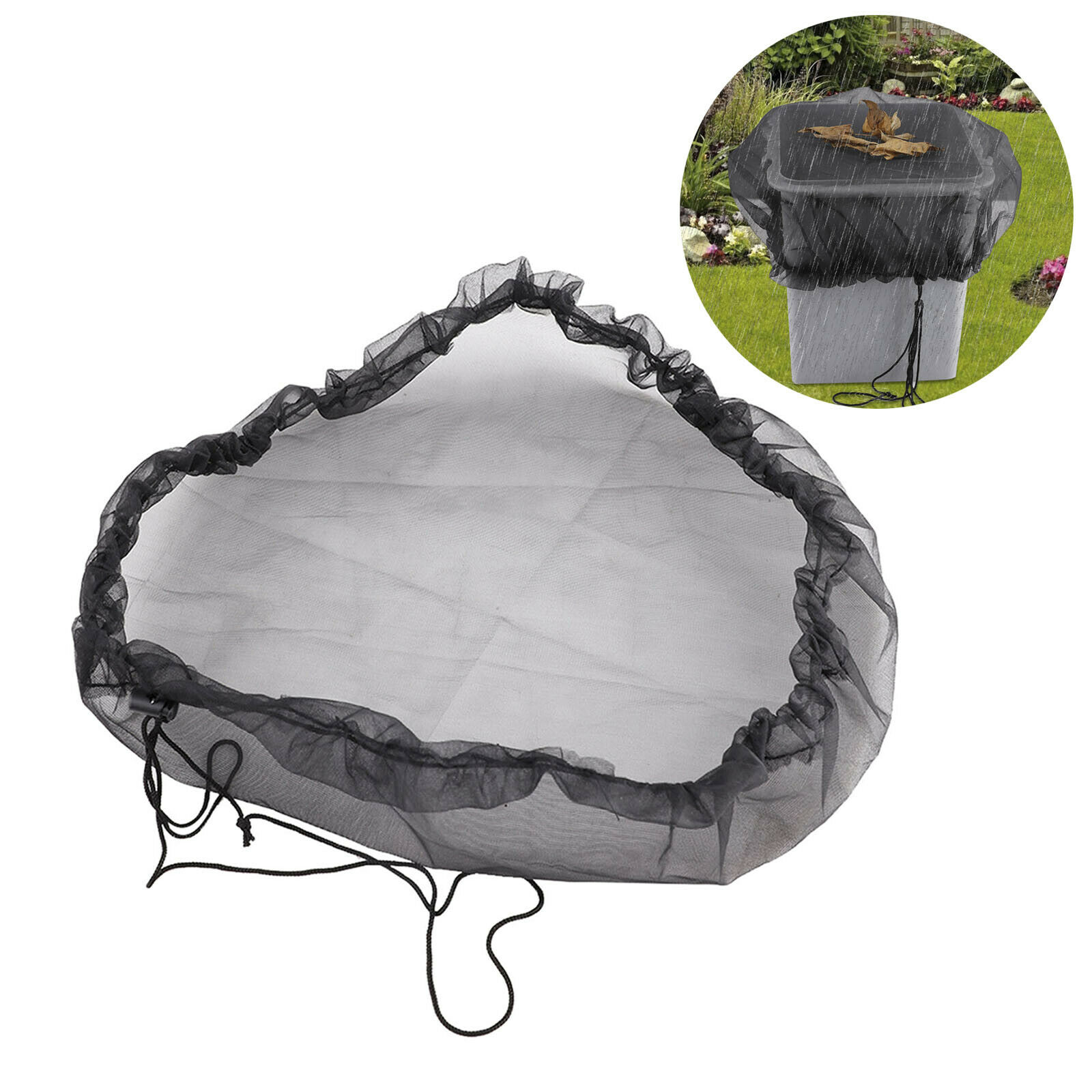 Outdoor Garden Rain Barrels Mesh Cover Netting Wrap Tank Bag Protectivet Covers