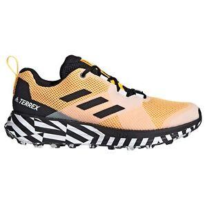 Adidas-Terrex-deux-homme-trail-running-Trainer-Shoe-Or-Noir-Blanc