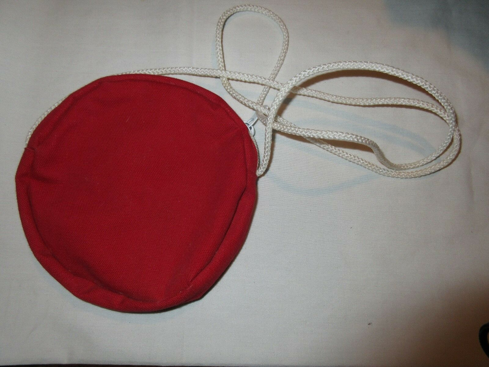 Purse, Girl, Young Girl's,Round Red Purse With White St