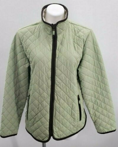 FREE COUNTRY WOMEN'S LARGE DOWN FILLED QUILTED GRE