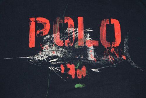 Vintage Polo Ralph Lauren Marlin SpellOut Shirt sz
