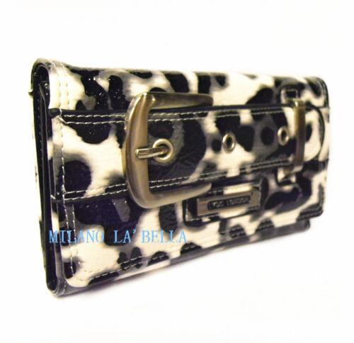 082 Black LYDC Designer Womens Vintage Satchel Purse Wallet Boxed