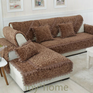 Thicken-Plush-Fabric-Sofa-Cover-Lace-Slip-Resistant-Slipcover-Seat-Couch-Towel