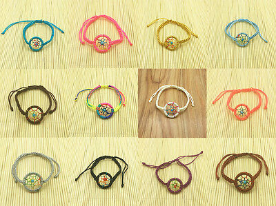New Fashion Handmade Leather Cute Charm Campanula DreamCatcher Bracelet U pick