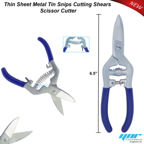 METAL TIN SNIPS  JEWELLERS CUTTING SHEARS CRAFTS WIRE WORK STRAIGHT IN 4 STYLES