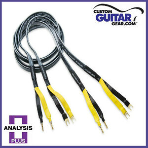 Analysis-Plus-Black-Mesh-Oval-9-Speaker-Cable-4ft-Length-SINGLE-for-CENTER