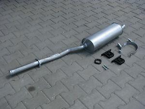Montagezubehör Endschalldämpfer BMW E36 316i 1.6 102PS 75kW Auspuff mit E