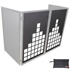 ProX XF-SMETERX2 Sound Meter White on Black DJ Facade Scrims Pair