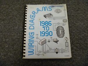 1986 Harley Davidson Fxr Softail Sportster Electrical Wiring Diagram Manual Ebay