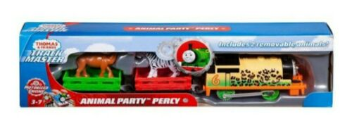 Thomas /& Friends Trackmaster Motorised Animal Party Percy Engine Train new