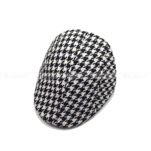 New Boys Kids Child Beret Flat Cap Houndstooth Plaid Newsboy Hat Baby Hat