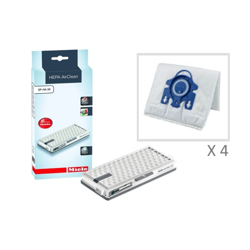 Miele HEPA AirClean SF-HA 50 with 4 Hyclean Miele GN 3D Efficiency Dust Bags