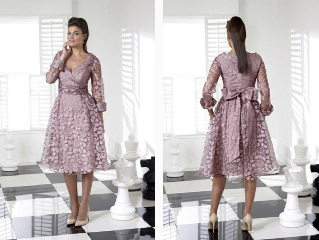 Veromia VO3728 Mother Of The Bride Dress Size 10 Antique Rose Pink