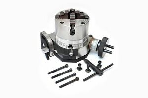 """BACKPLATE ROTARY TABLE 3/"""" TILTING 70 MM INDEPENDENT CHUCK"""