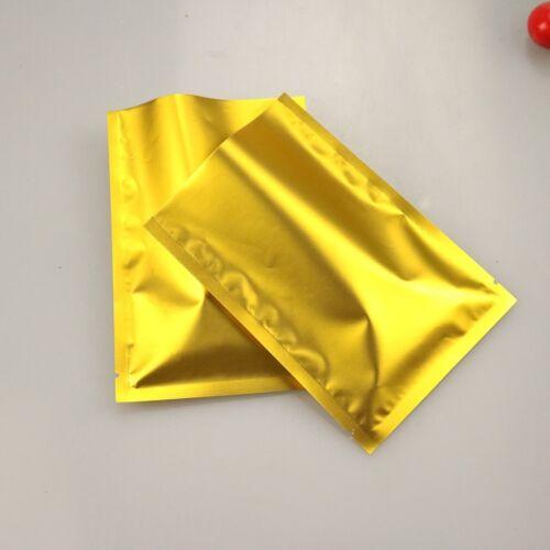 Gold Aluminum Mylar Foil Packaging Heat Seal Bags Food  Vacuum Bag Pouches