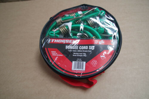 Olympia Thorsen 6 x 600mm x 12mm Bungee Cord Strap Green in Bag