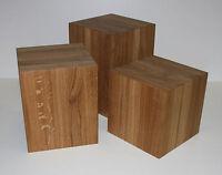 Design sitzblock sitzhocker w rfel kubus hocker massivholz for Beistelltisch holzklotz