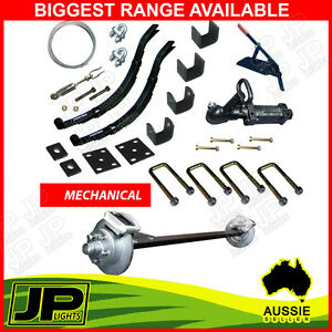 DIY-MECHANICAL-SINGLE-AXLE-TRAILER-KIT-1400KG-RATED-CARAVAN-BOAT-PARTS-SPRINGS