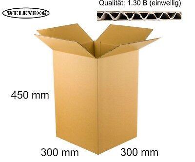 80 Faltkartons 450x300x300 mm B-410g//m2  Versandkarton Falt Kartons BRAUN
