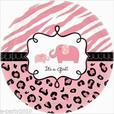 SWEET SAFARI GIRL SMALL PAPER PLATES (18) ~ Baby Shower Party Supplies Dinner