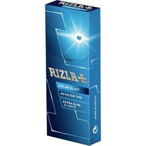 2-X-60-FILTER-TIPS-RIZLA-POLAR-BLAST-CRUSHBALL-EXTRA-SLIM-FILTER-TIPS-5-7MM-NEW
