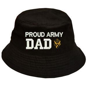 f0cb4efab8e Image is loading 100-Cotton-Military-Bucket-Cap-Hat-PROUD-U-S-