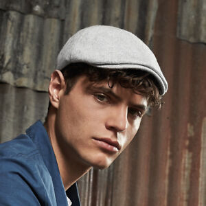 Flat-Cap-Mens-On-Trend-Fashion-Fit-Grey-Wool-Hat-Newsboy-Baker-Boy-Golf-Gatsby