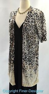 Chicos-long-layer-top-open-cardigan-sweater-fine-knit-burnout-Chico-SZ-1-S-M-NEW