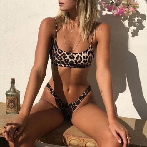 2019 SexyLeopard Bikini Bathing suit Push-Up Padded Beachwear Swimwears SwimsCRI