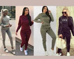 New-Women-039-s-Ladies-2PCs-Vogue-Print-Lounge-wear-Set-Miley-Travel-Comfy-Suit-8-14